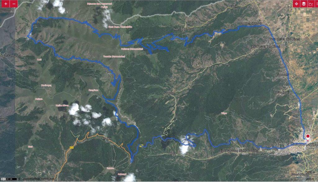 Map Varnoudas Crossig